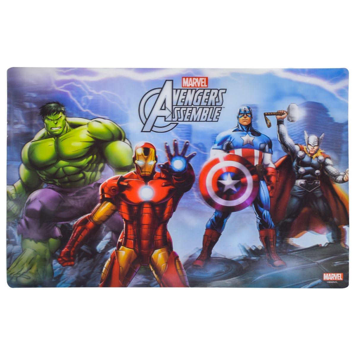 Mantel individual infantil de plástico Fun Kids® Avengers