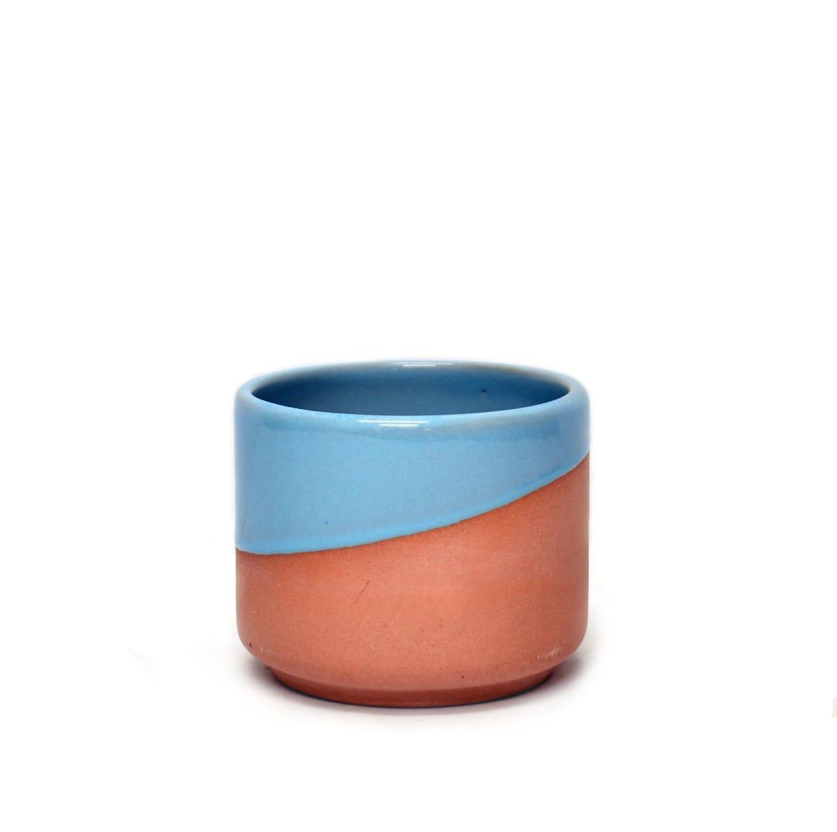 Maceta chica de pasta de barro Casa Mejicu® cilindro #1 terracota