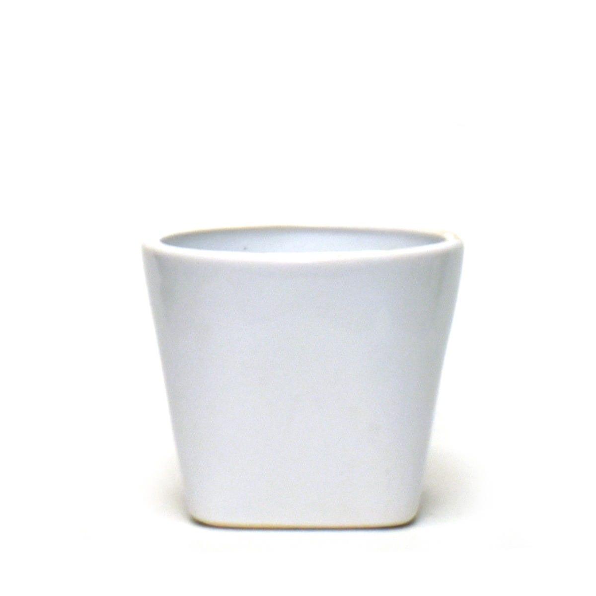 Maceta de cerámica Casa Mejicu® elegante #3 color blanco