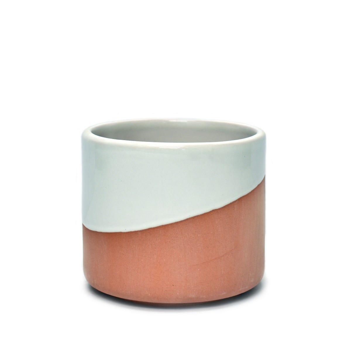 Maceta mediana de pasta de barro Casa Mejicu® cilindro #2 terracota