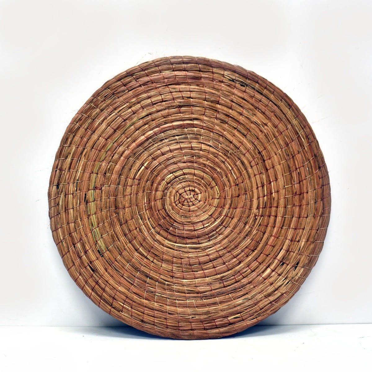 Manteles artesanales Mejicu® en café, Set de 4