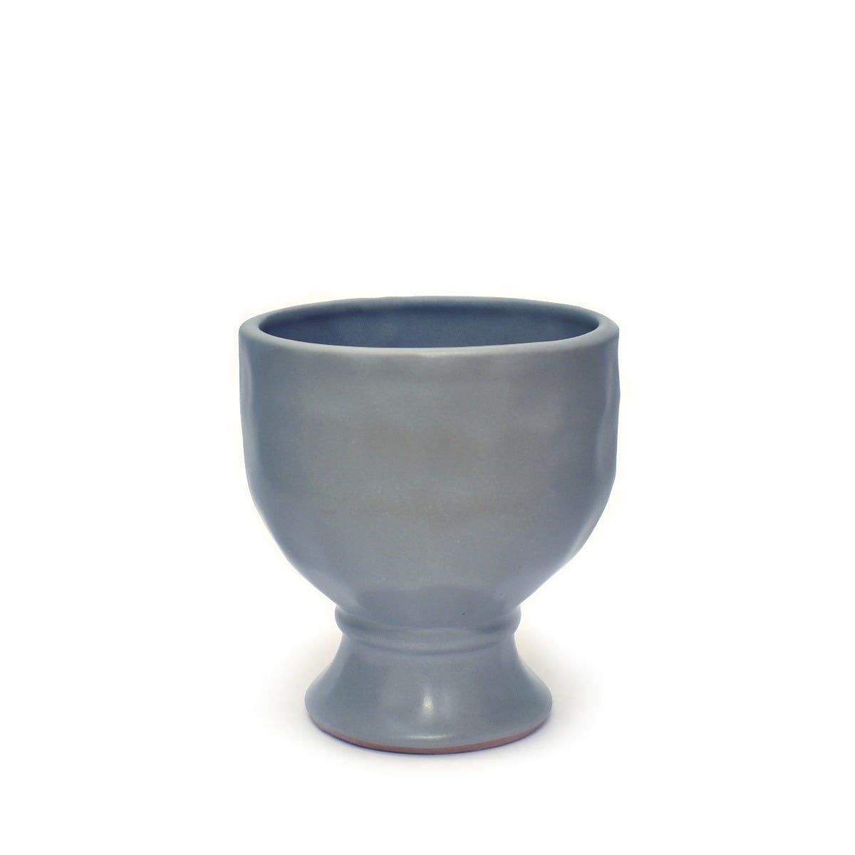 Maceta de pasta de barro copa prisma artesanal