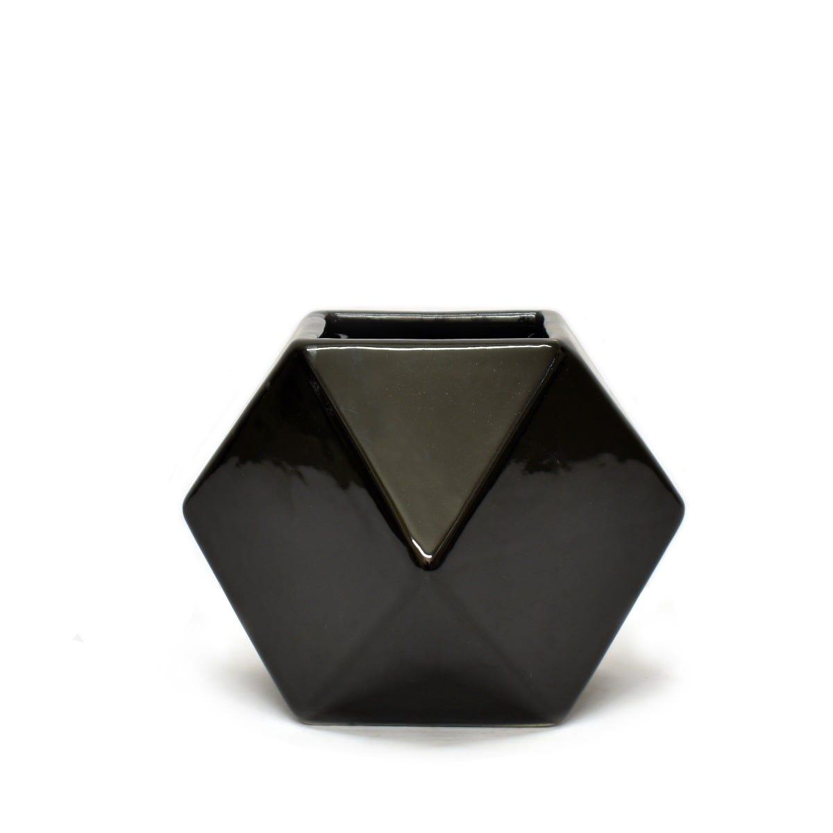 Maceta de cerámica Geométrica en forma de rombo
