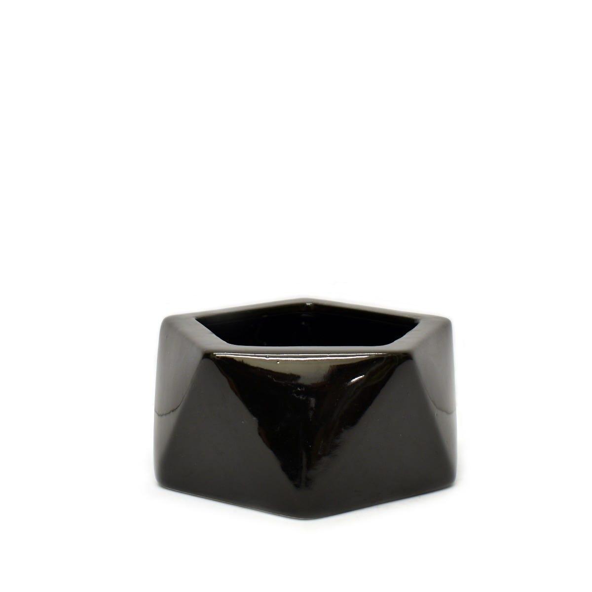 Maceta de cerámica Geométrica en forma de pentágono