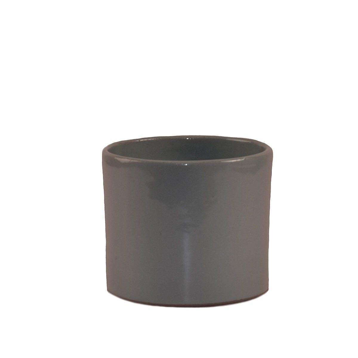 Maceta de pasta de barro Suculenta forma de cilindro de 10 cm
