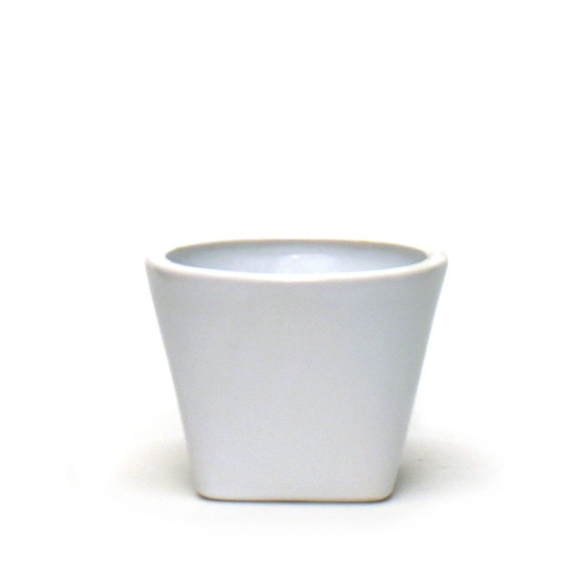 Maceta de cerámica Casa Mejicu® elegante #2 color blanco