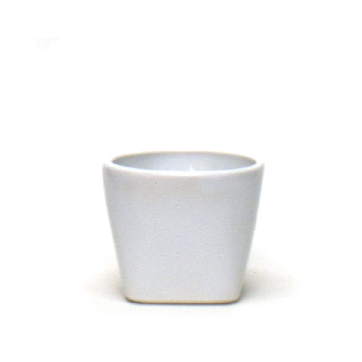Maceta de cerámica Casa Mejicu® elegante #1 color blanco