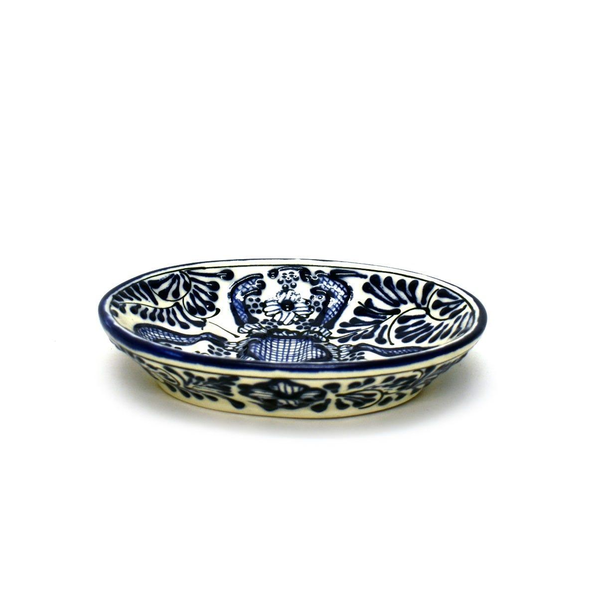 Jabonera con relieve en azul
