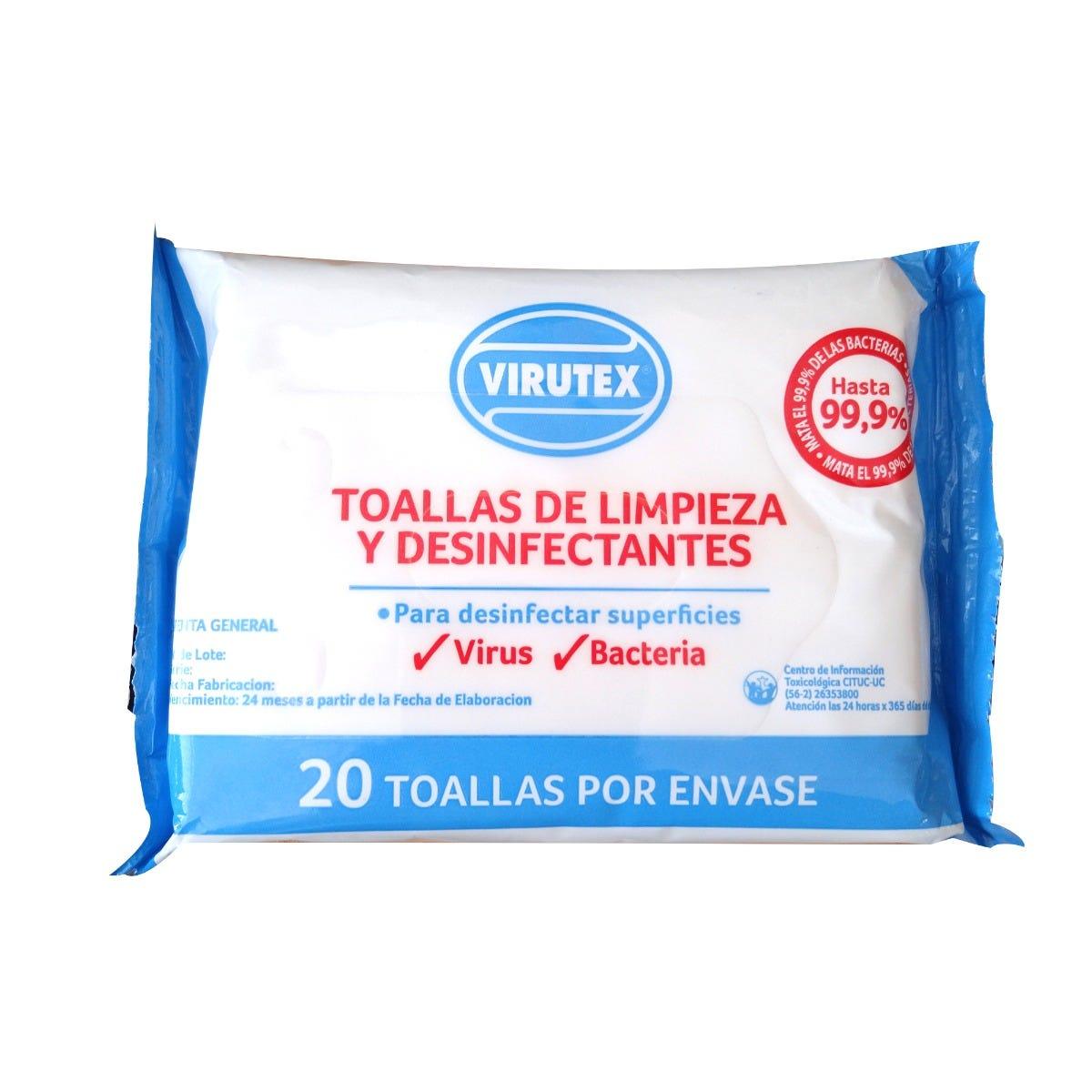 Toallas desinfectantes Virutex®, 20 Piezas