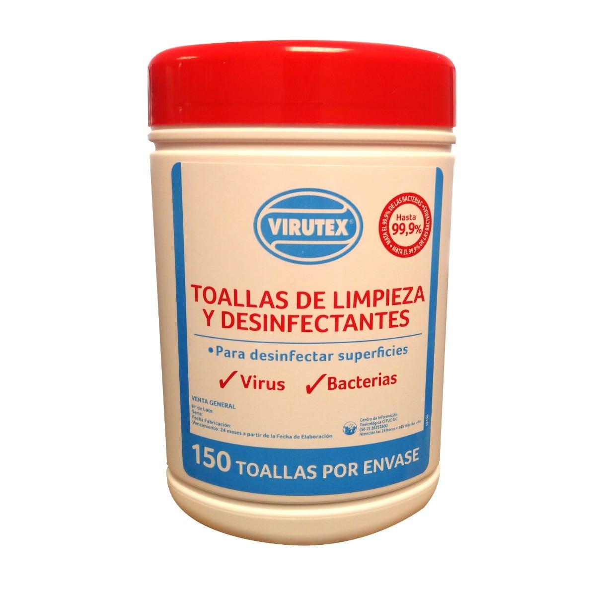 Toallas desinfectantes Virutex®, 150 Piezas
