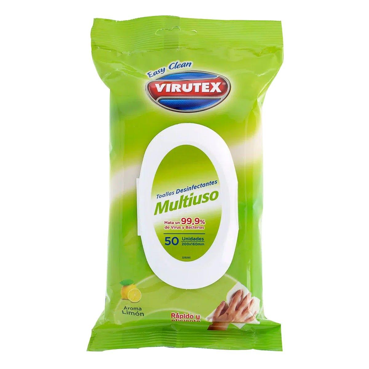 Toallas desinfectantes Virutex® Easy Clean, 50 Piezas
