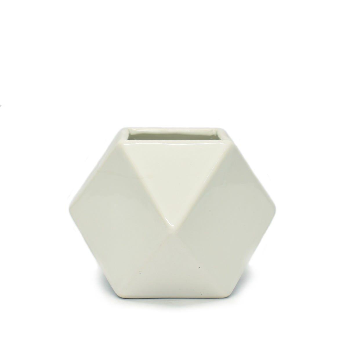 Maceta Casa Mejicu® pentagonal en blanco