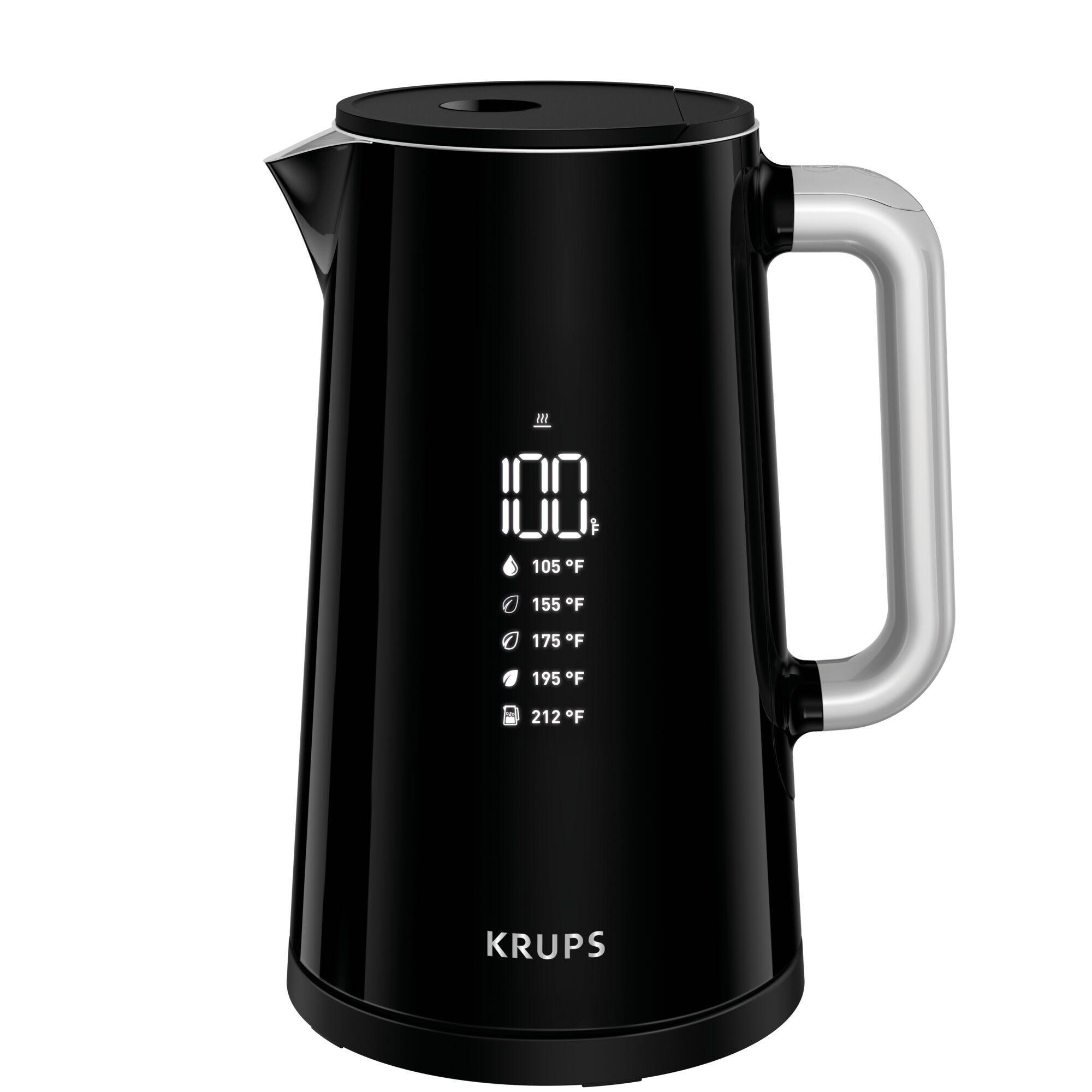 Tetera eléctrica Krups® en negro