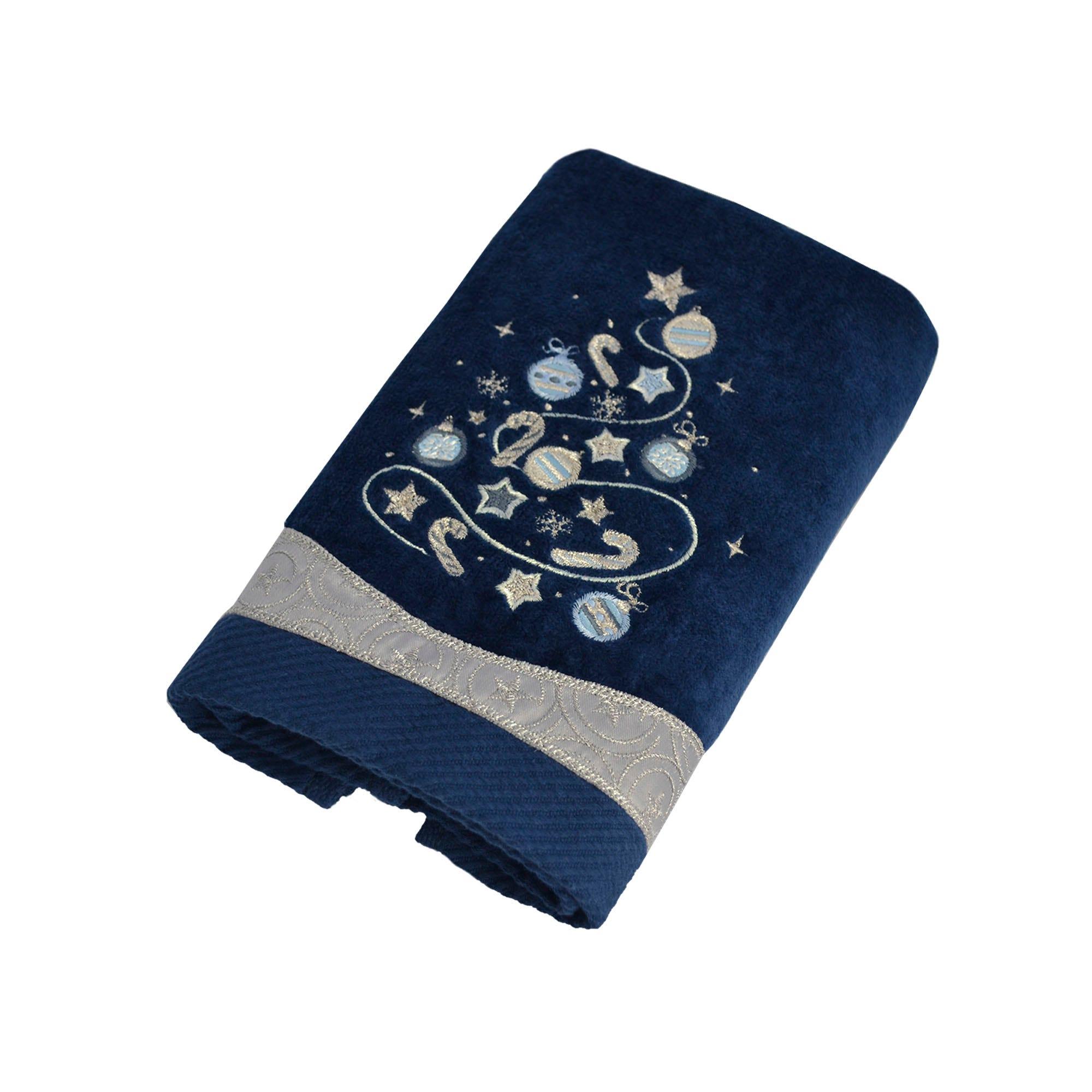 Toalla facial de algodón Blue Tree color azul