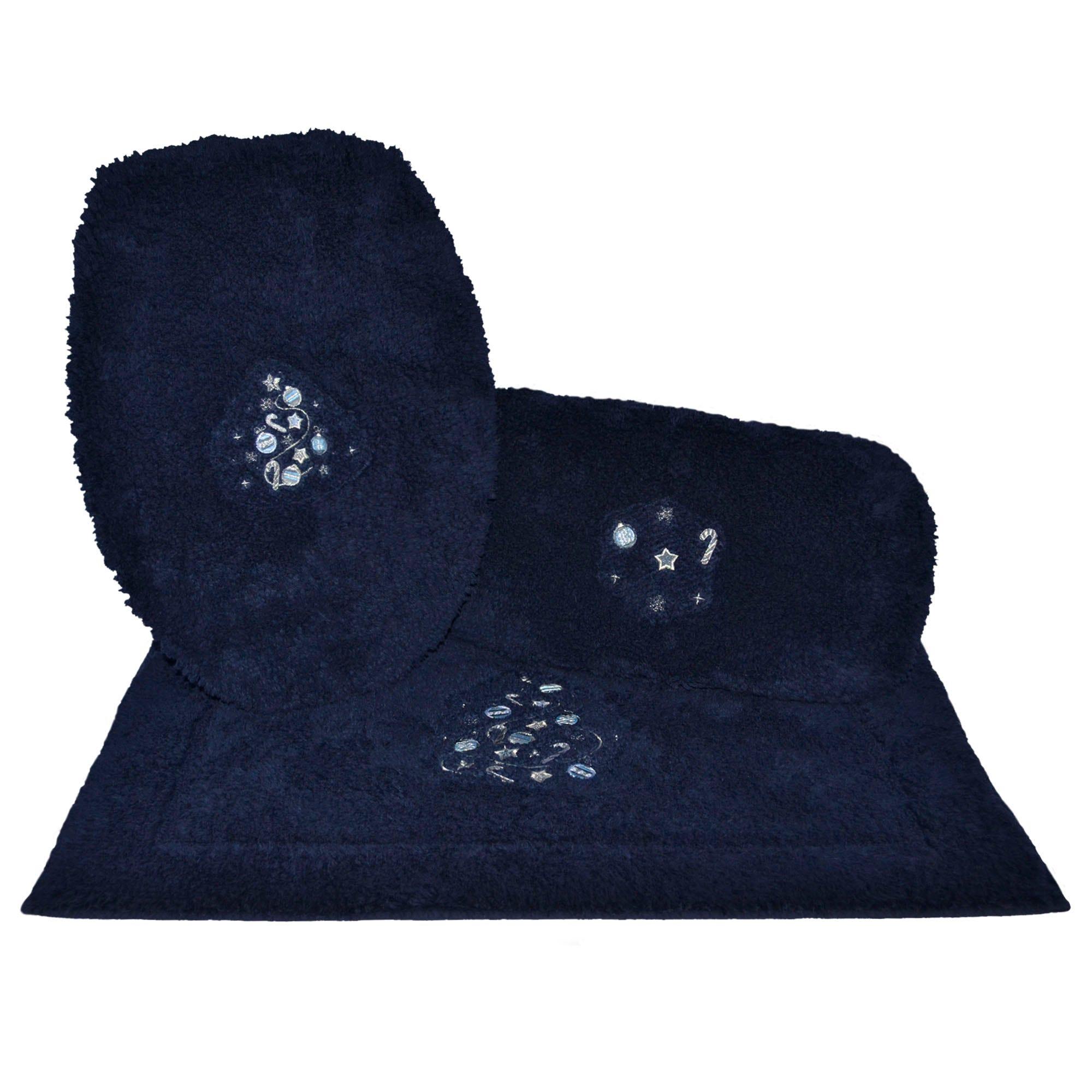Juego de tapetes para baño Blue Tree en azul, 3 piezas