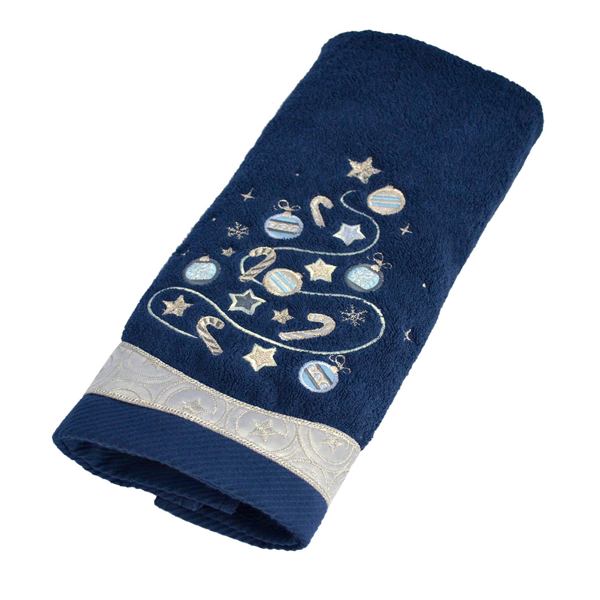 Toalla para manos de algodón Blue Tree color azul