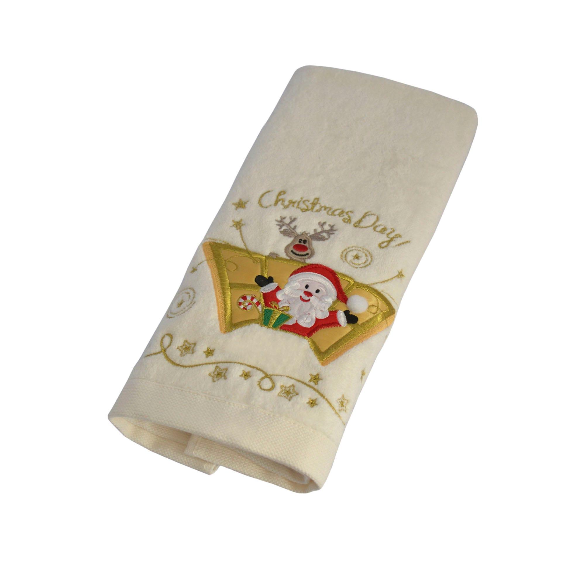 Toalla para manos de algodón Santa Day color beige