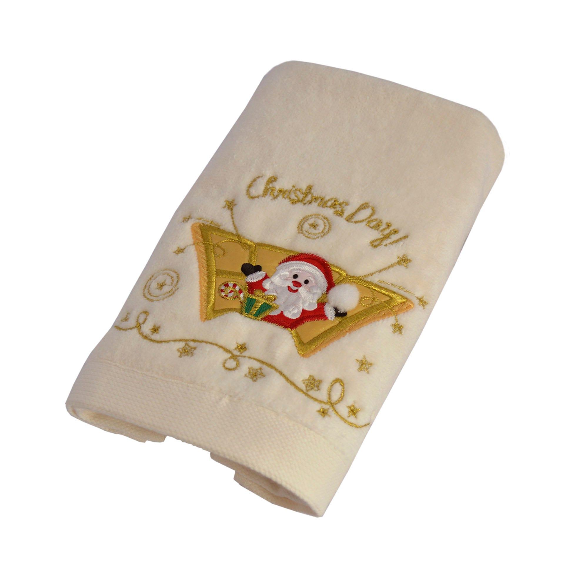 Toalla facial de algodón Santa Day color beige