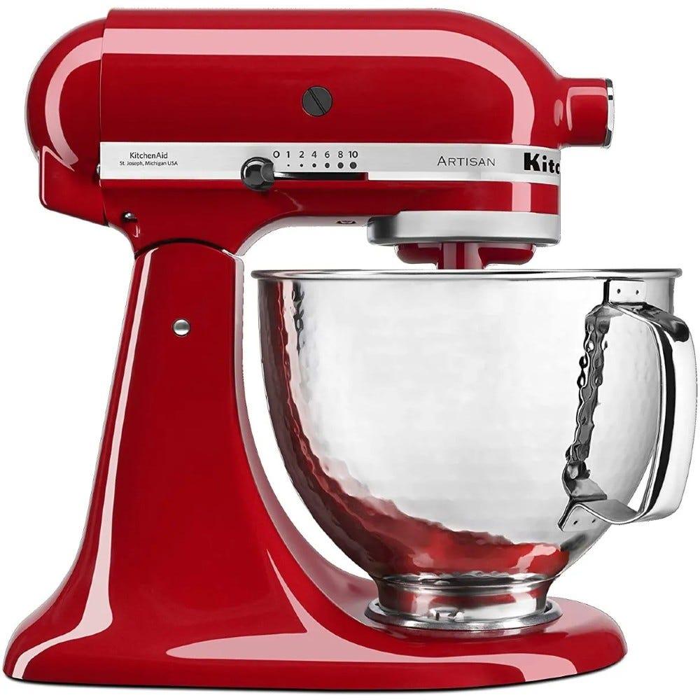 Batidora con tazón martillado KitchenAid® Artisan de 4.8 L en rojo imperial