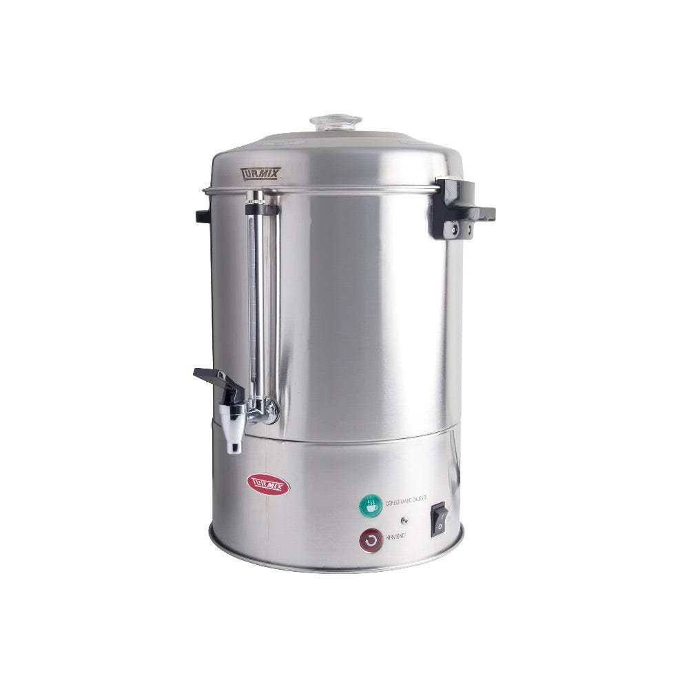 Cafetera Percoladora de acero inoxidable Turmix® de 100 tazas