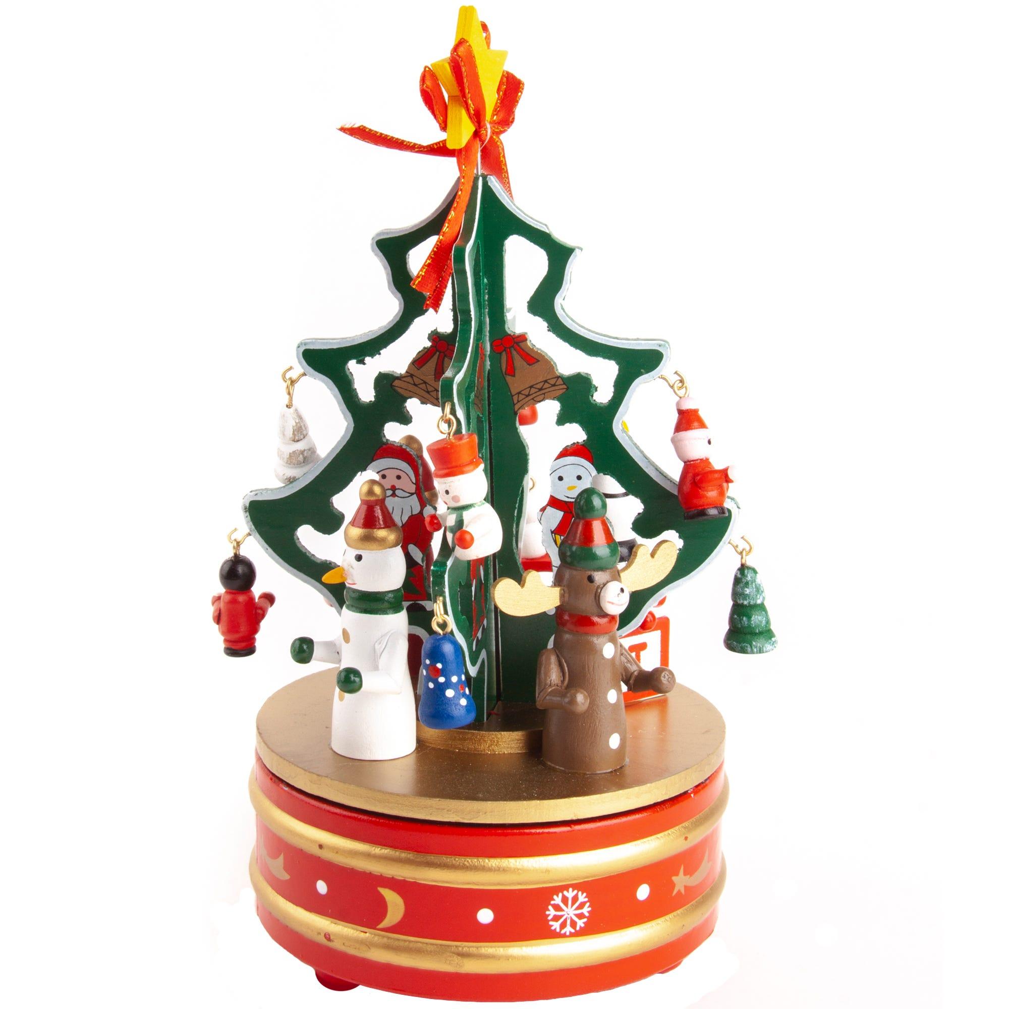 Adorno musical Running Decora con árbol de Navidad en dorado/rojo