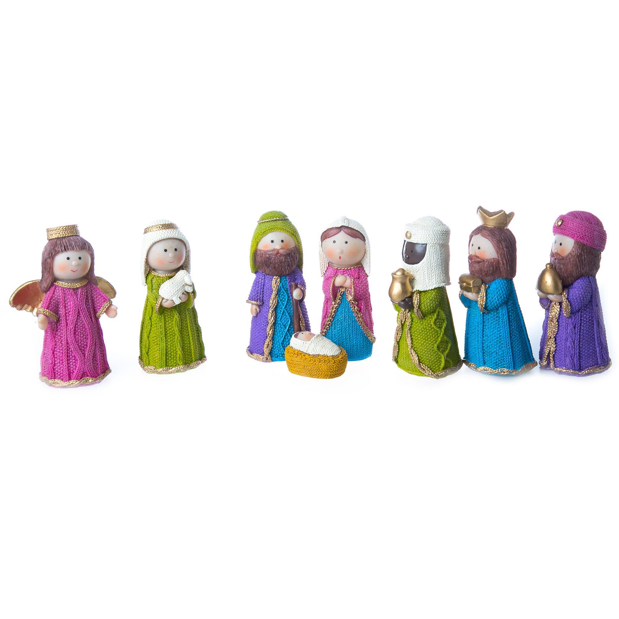 Nacimiento navideño, 8 piezas