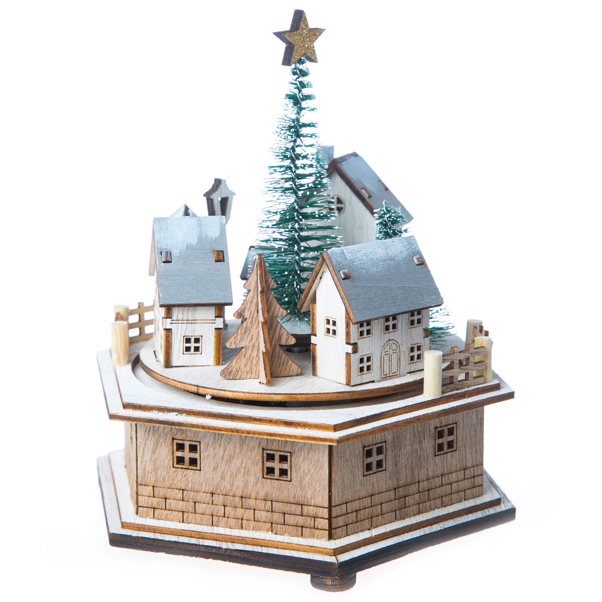 Caja musical en forma de villa