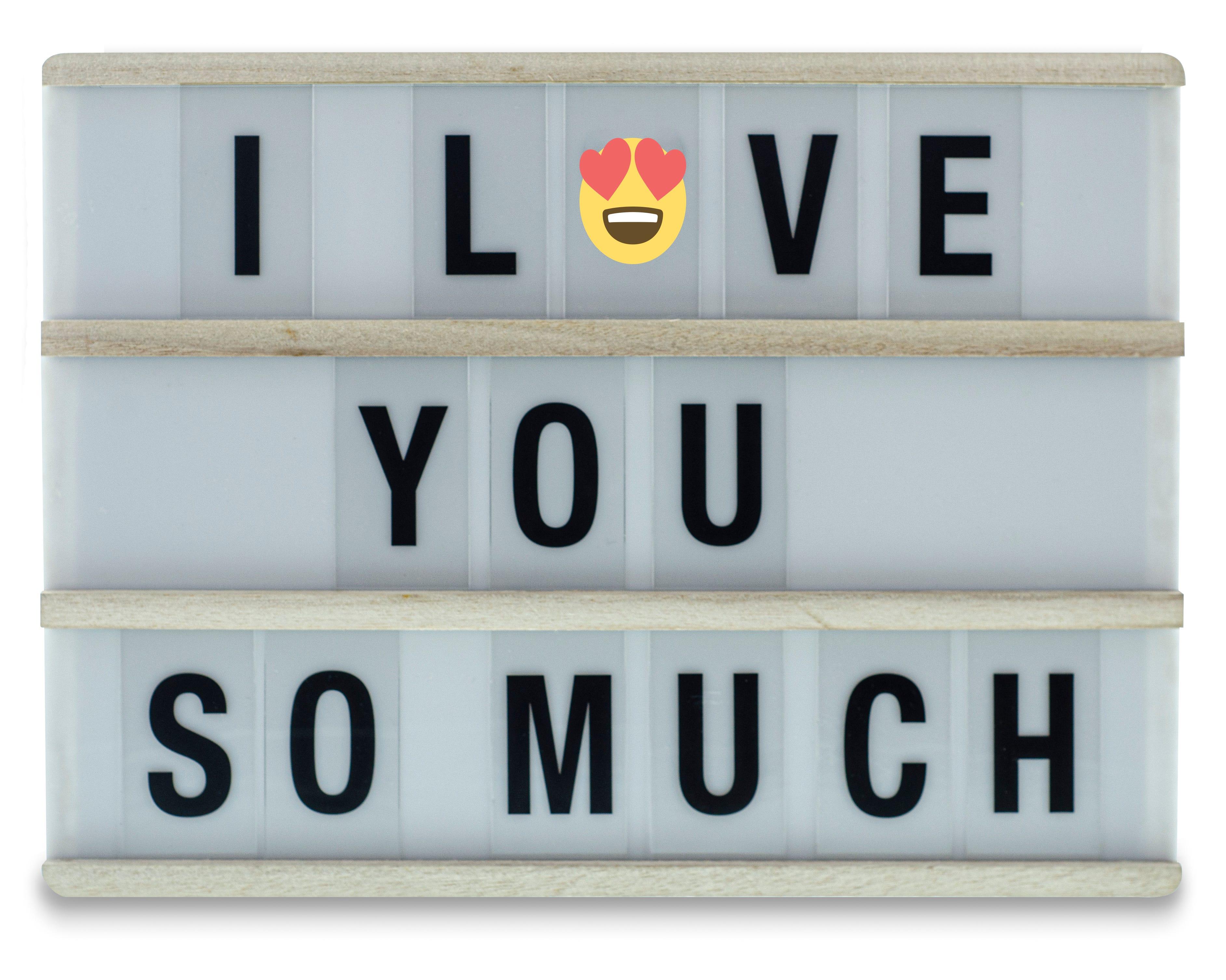 Tablero para mensajes Hearth & Heaven® con luz LED de madera