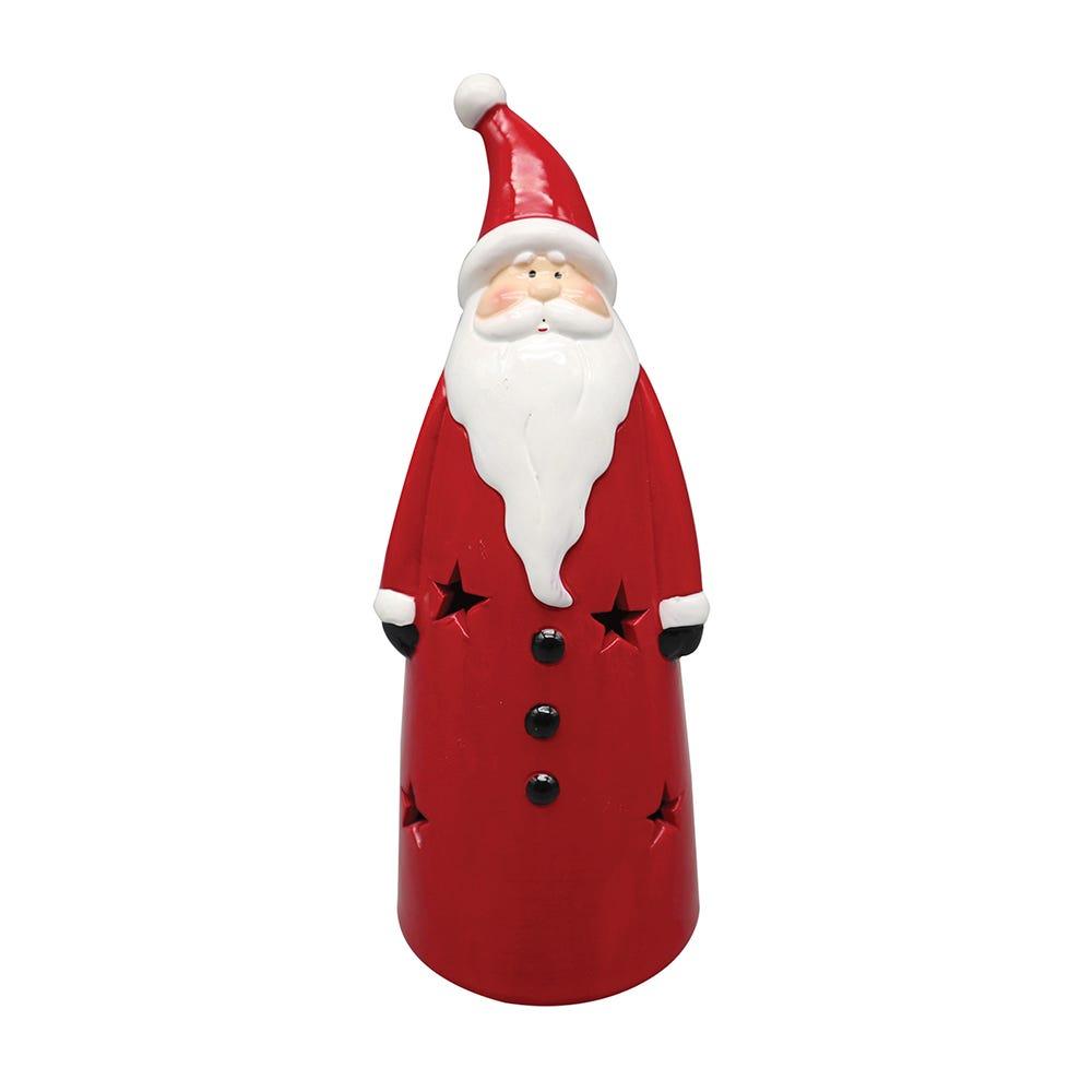 Santa Claus de cerámica con luz LED