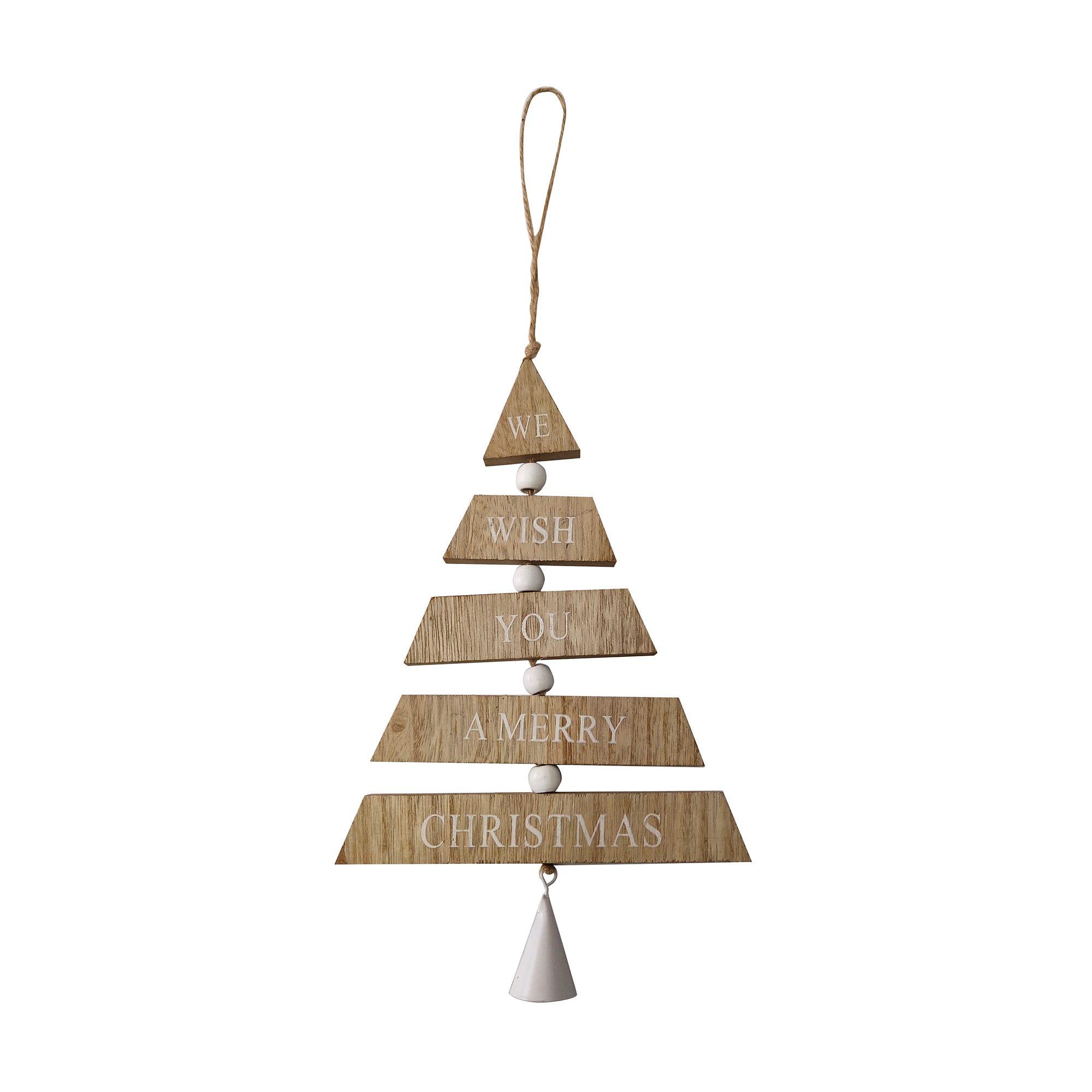 Colgante en forma de árbol de Navidad en beige