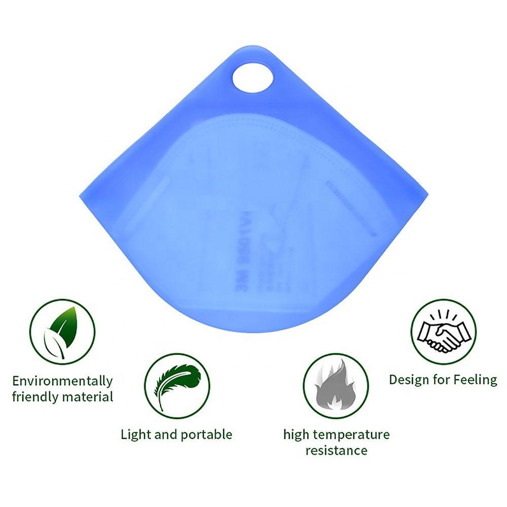 Estuche para cubrebocas Ecostyle® de silicón en aqua
