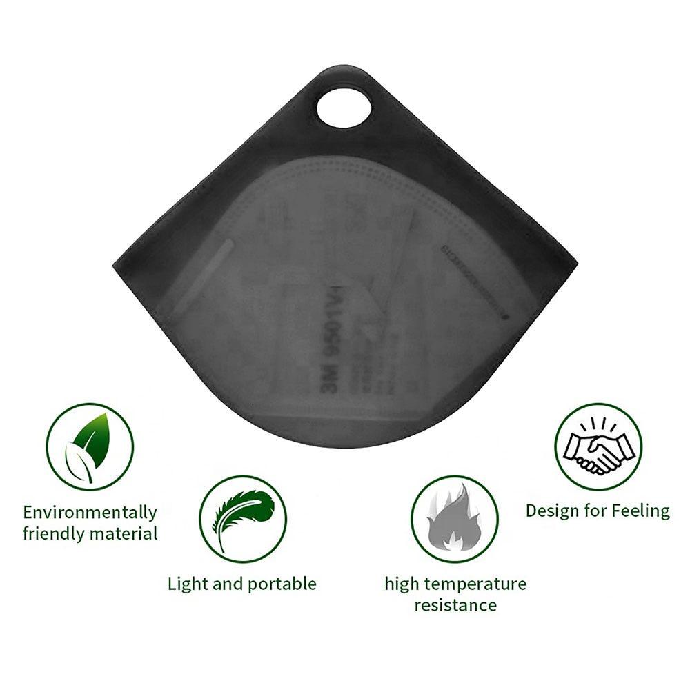 Estuche para cubrebocas Ecostyle® de silicón en negro