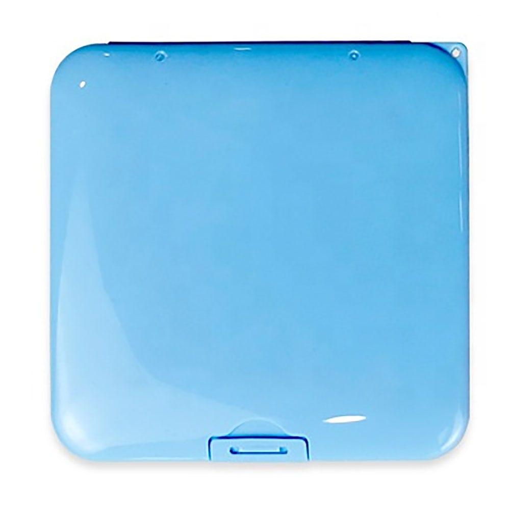 Estuche para cubrebocas Ecostyle® de plástico en azul