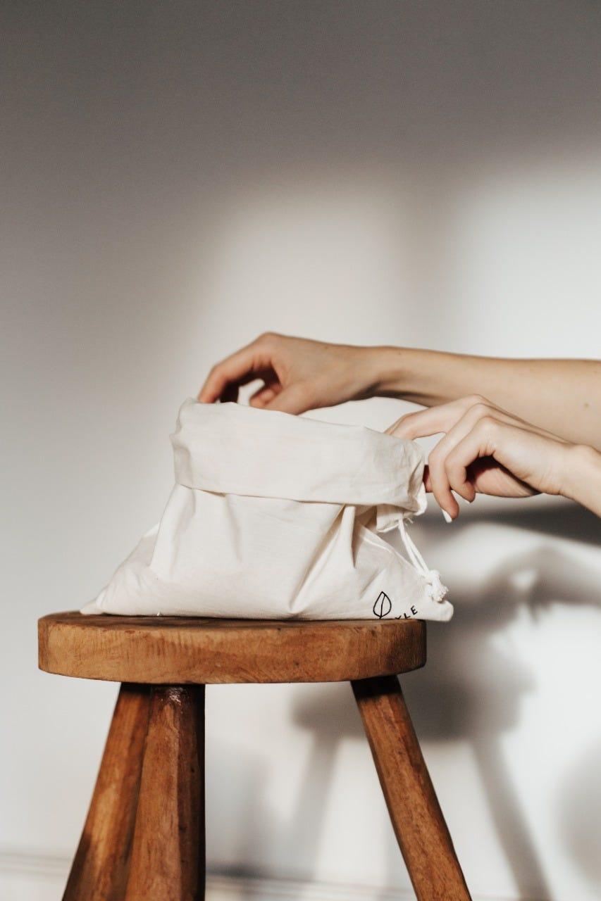 Bolsas ecológicas Ecostyle® en beige, Set de 4 piezas