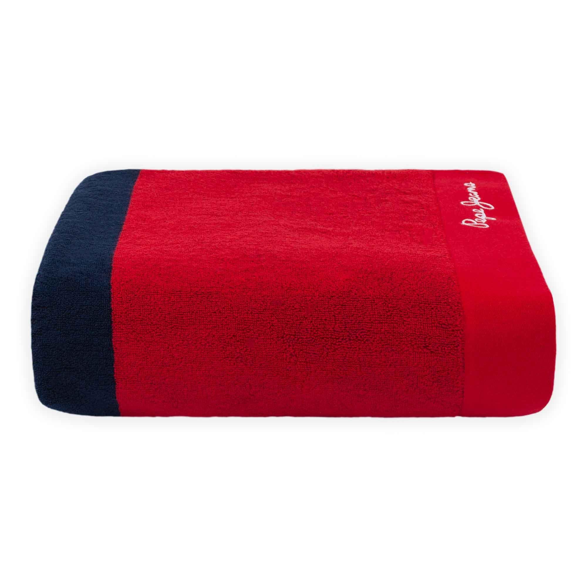 Toalla de baño Pepe Jeans® Pascal en azul/rojo