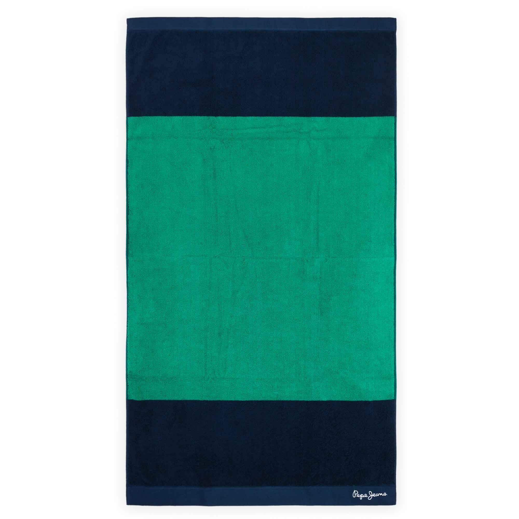 Toalla para manos de algodón Pepe Jeans® Pascal color verde/azul