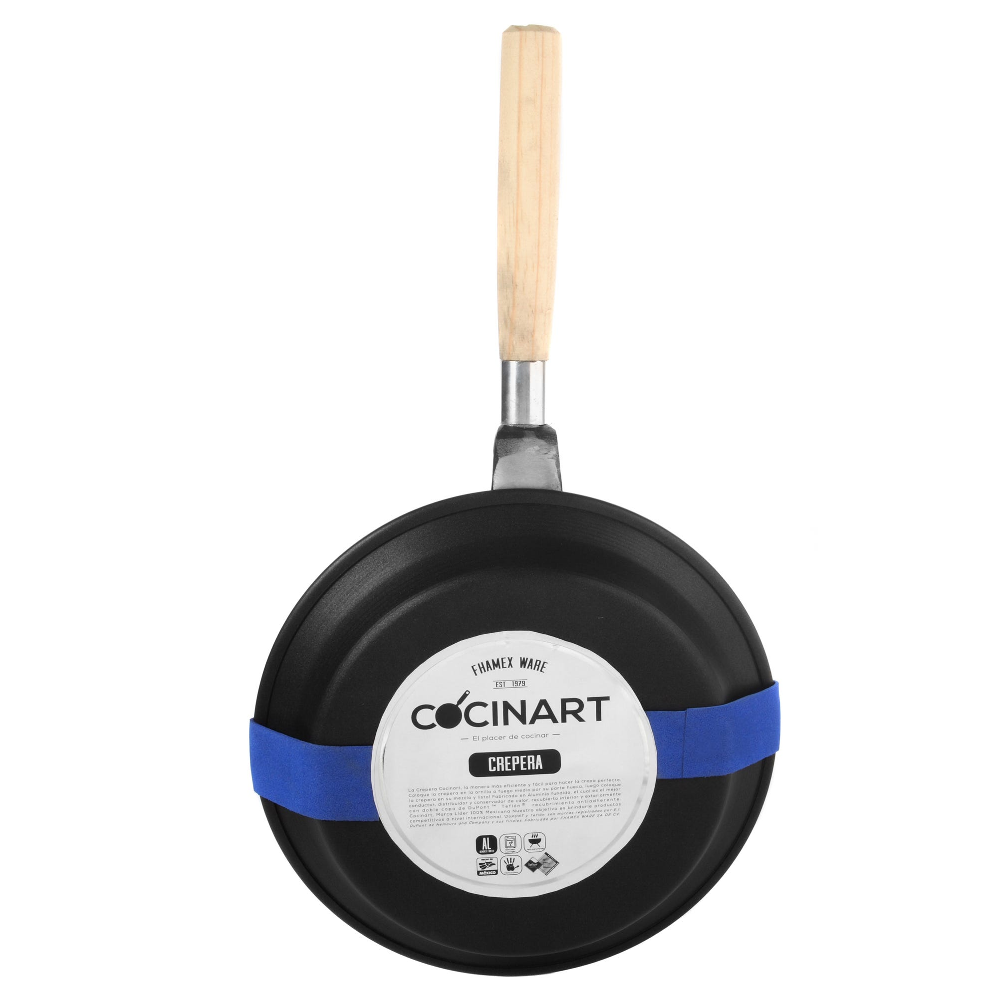 Crepera Cocinart en negro