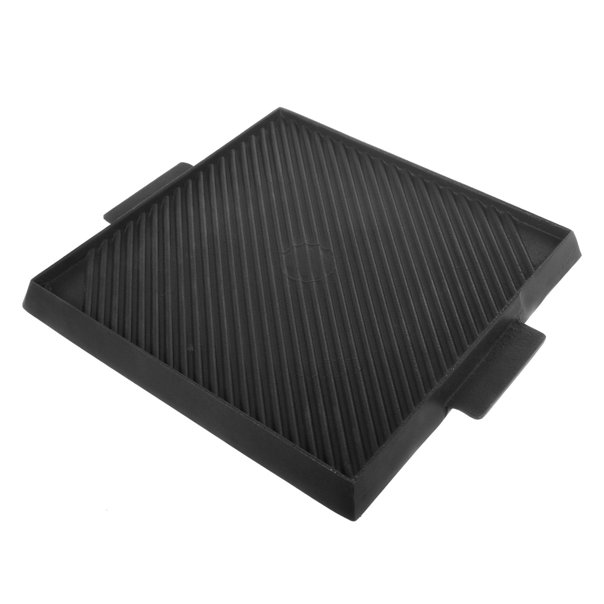 Plancha grill reversible de aluminio Cocinart color negro