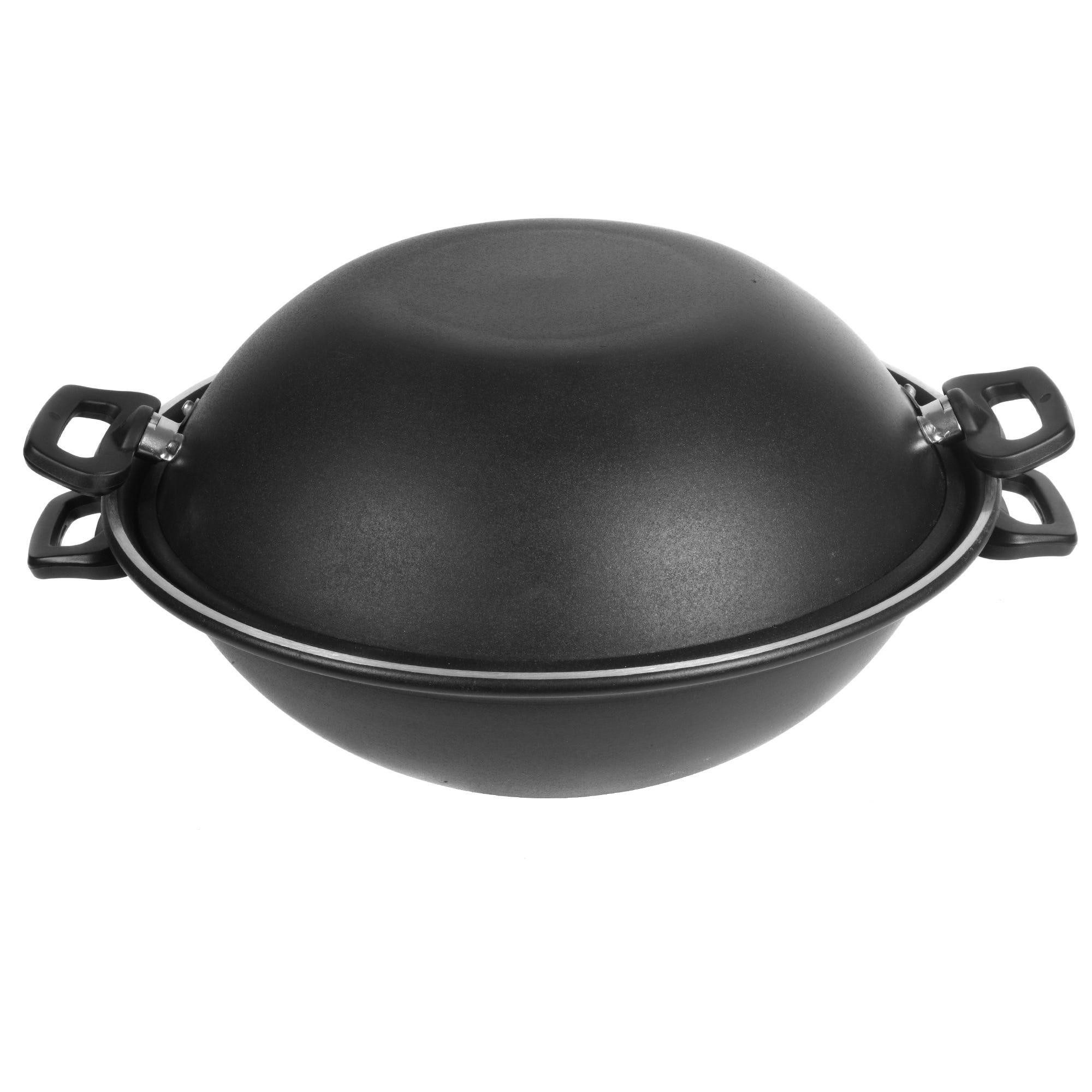 Wok doble de aluminio Cocinart