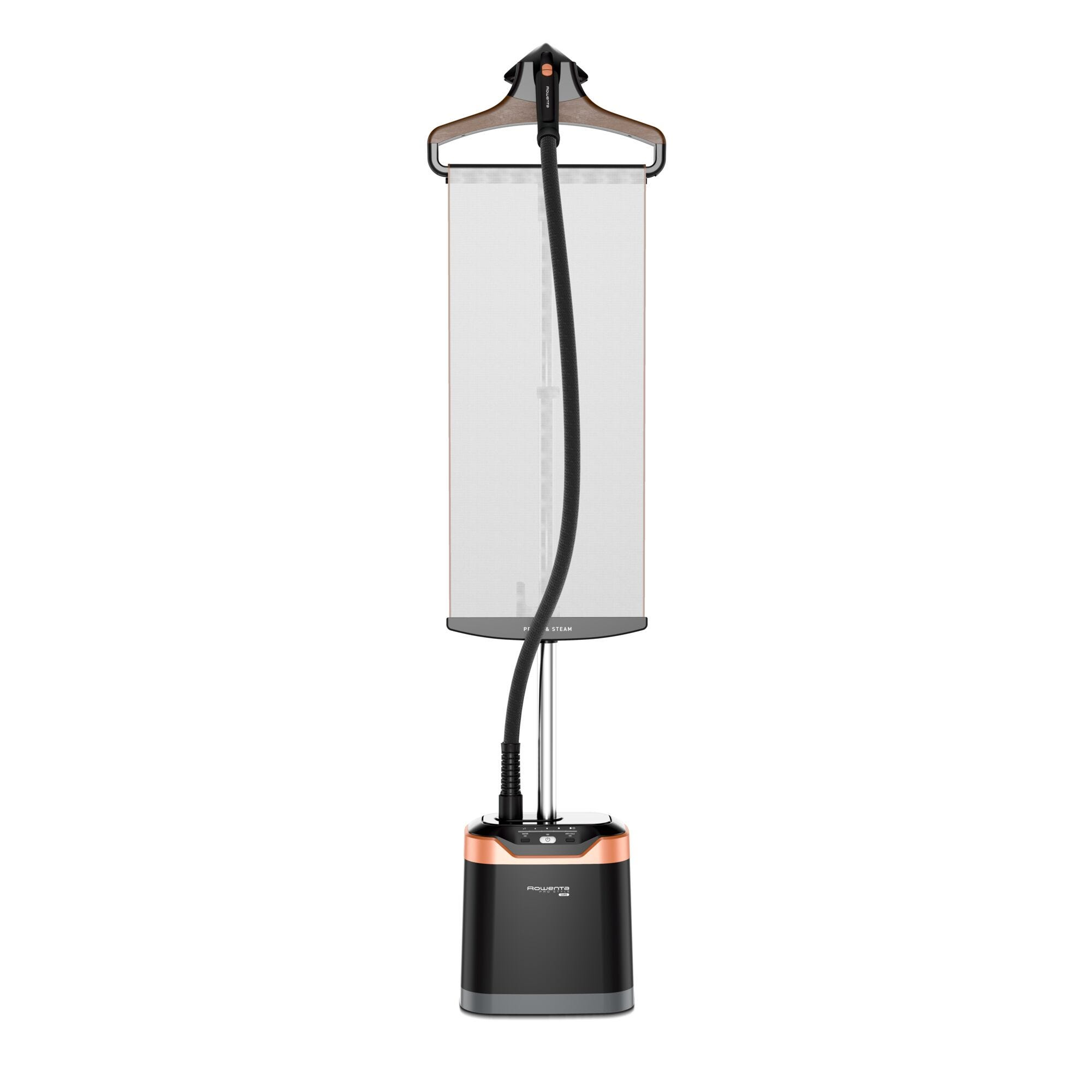 Centro de planchado vertical Rowenta Pro Style Care color negro y cobre