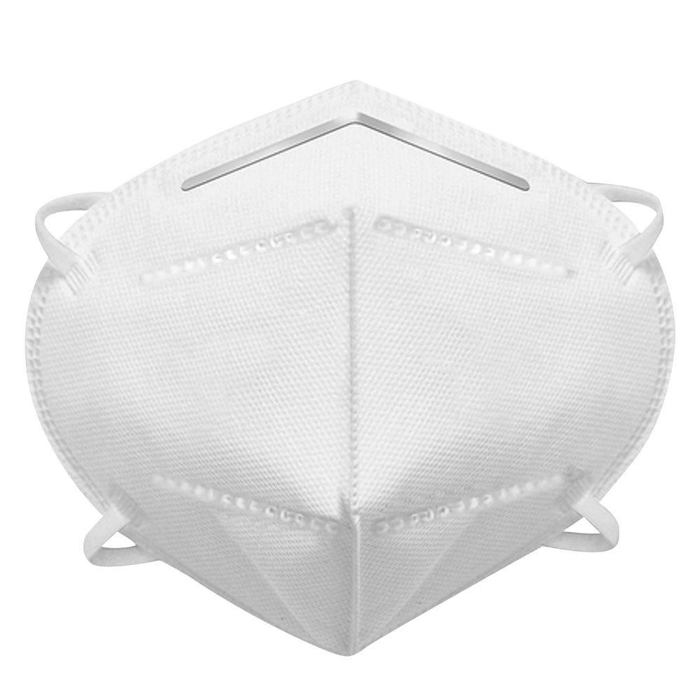 Cubrebocas individual de poliéster KN95 color blanco