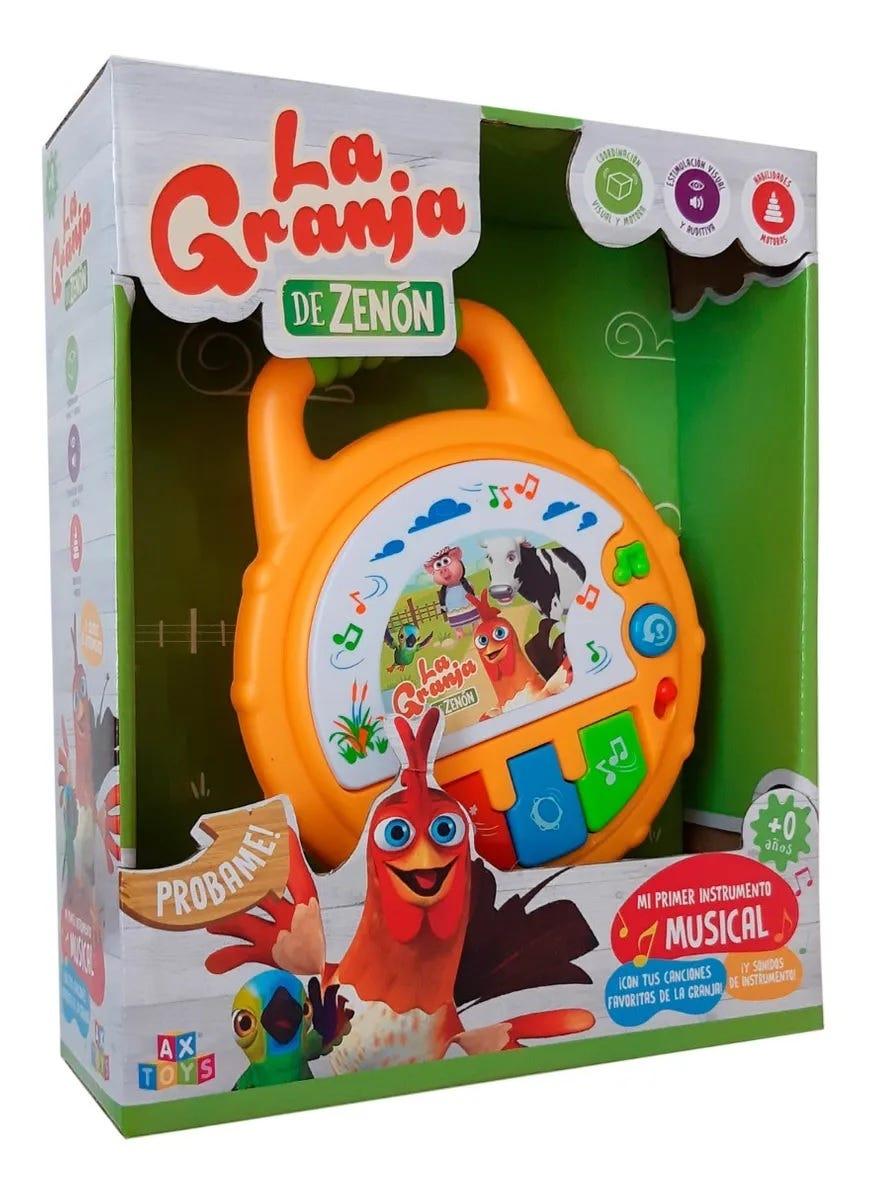 Mi primer tambor de juguete La Granja de Zenón