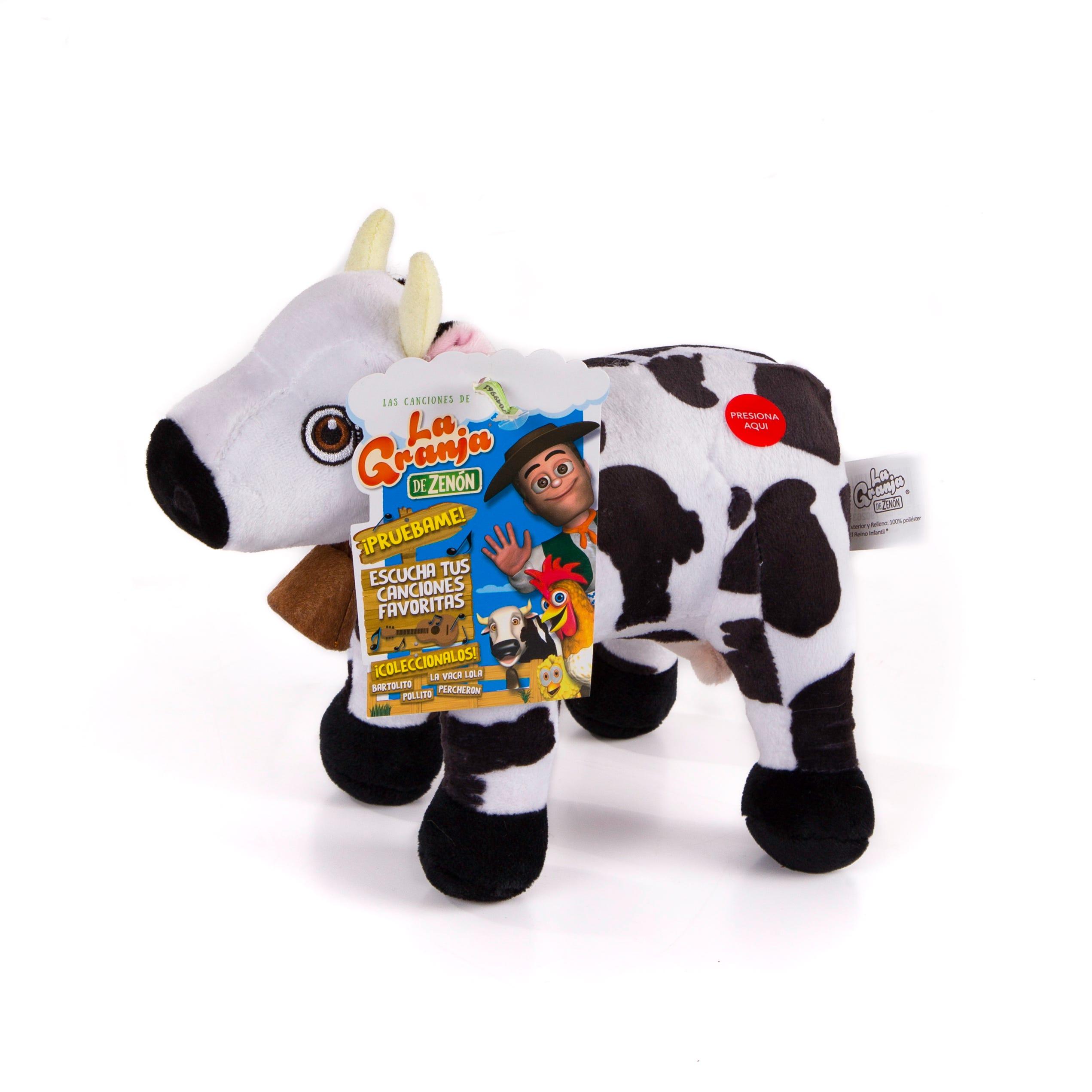 Peluche musical de La Vaca Lola La Granja de Zenón