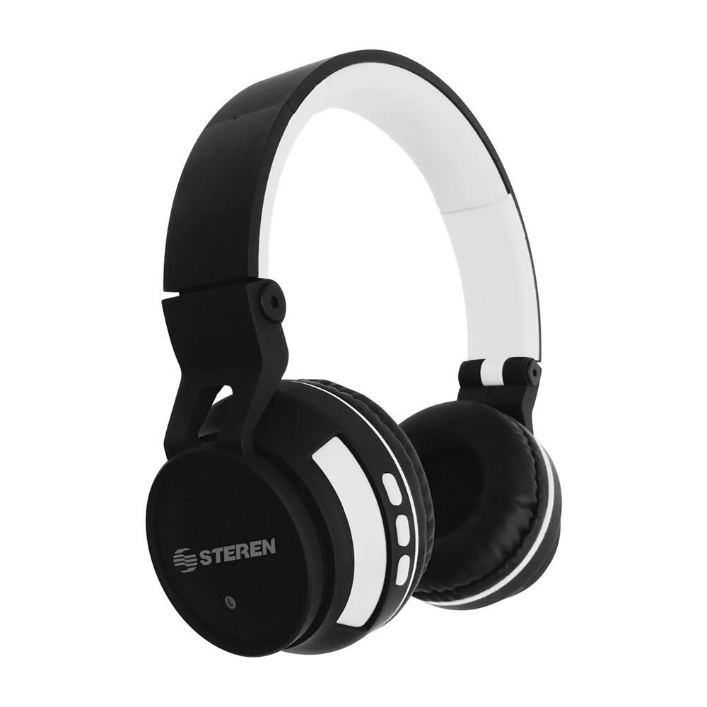 Audífonos de plástico Steren® bluetooth color blanco