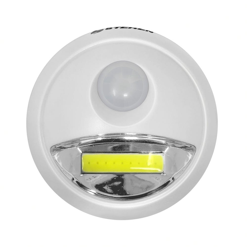 Lámpara LED de plástico Steren® con sensor de movimiento color blanco