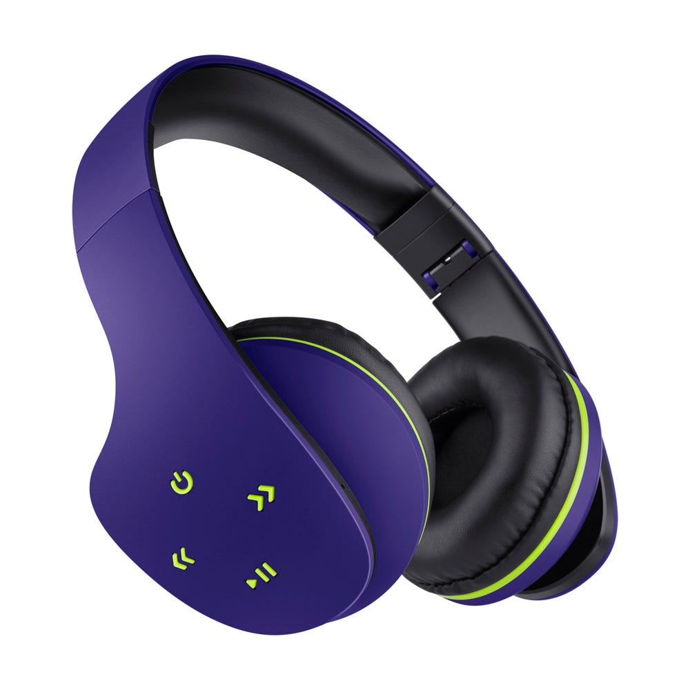Audífonos inalámbricos de plástico Steren® color azul