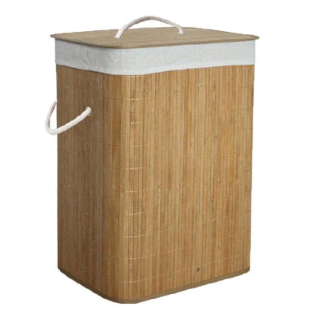 Cesto para ropa sucia de bambú Makom Home® color natural