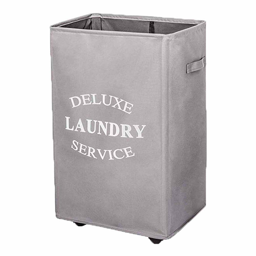 Cesto para ropa sucia rectangular de algodón Makom Home color gris