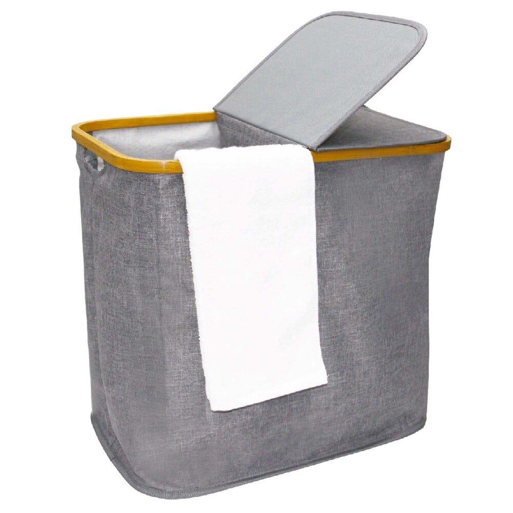 Cesto doble para ropa sucia de tela Makom Home®