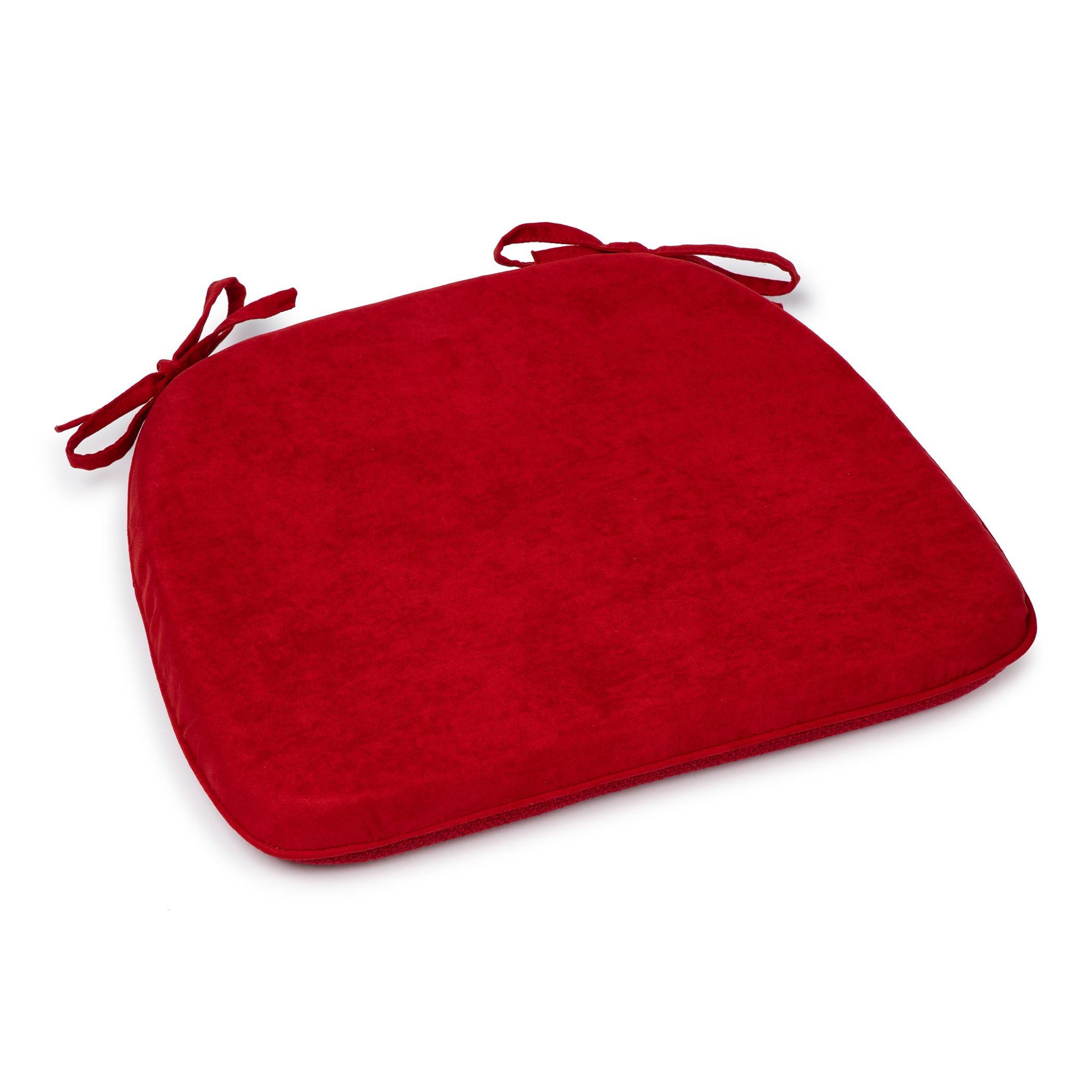 Cojín de poliéster para silla Simply Essential™ color rojo